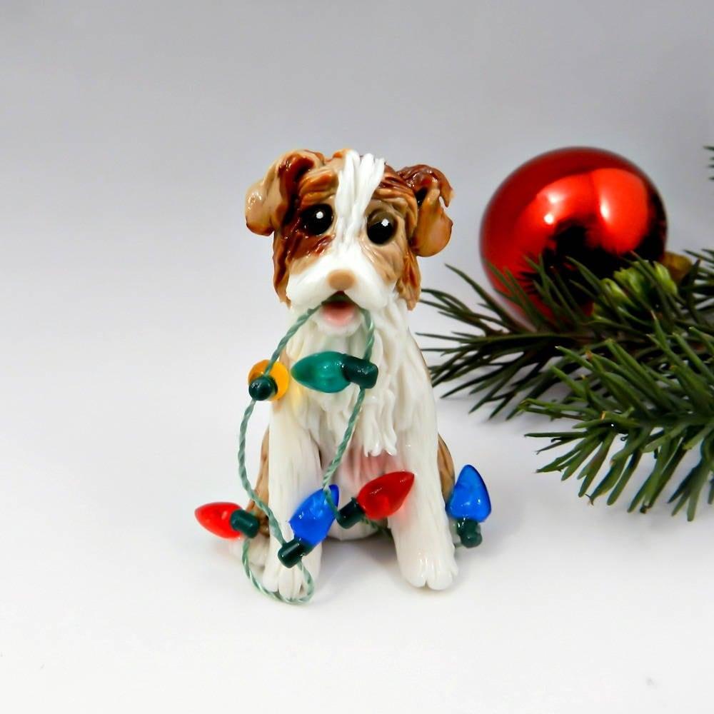 Australian Shepherd Christmas Ornament.Australian Shepherd Red Merle Christmas Ornament Figurine
