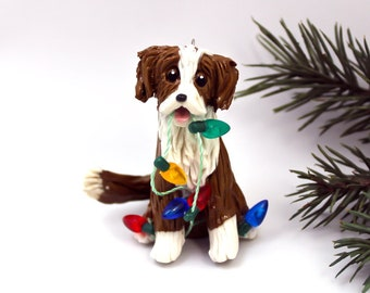 Nova Scotia Duck Tolling Retriever Porcelain Christmas Ornament Figurine Lights