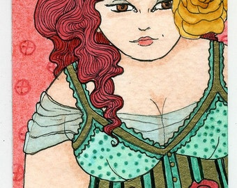 Fat Girl BBW yellow rose