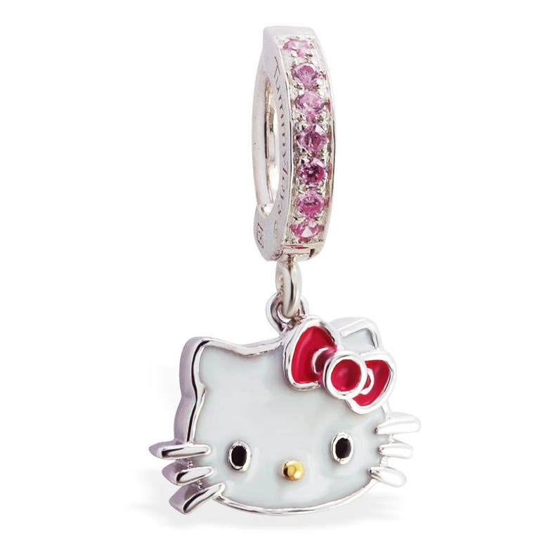 Hello Kitty Belly Ring Hello Kitty Jewelry Hello Kitty Navel Ring Belly Rings Navel Ring Silver Belly Ring 14g Belly Ring