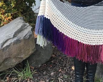 PRINT Knit Pattern - Faded Fringe Shawl