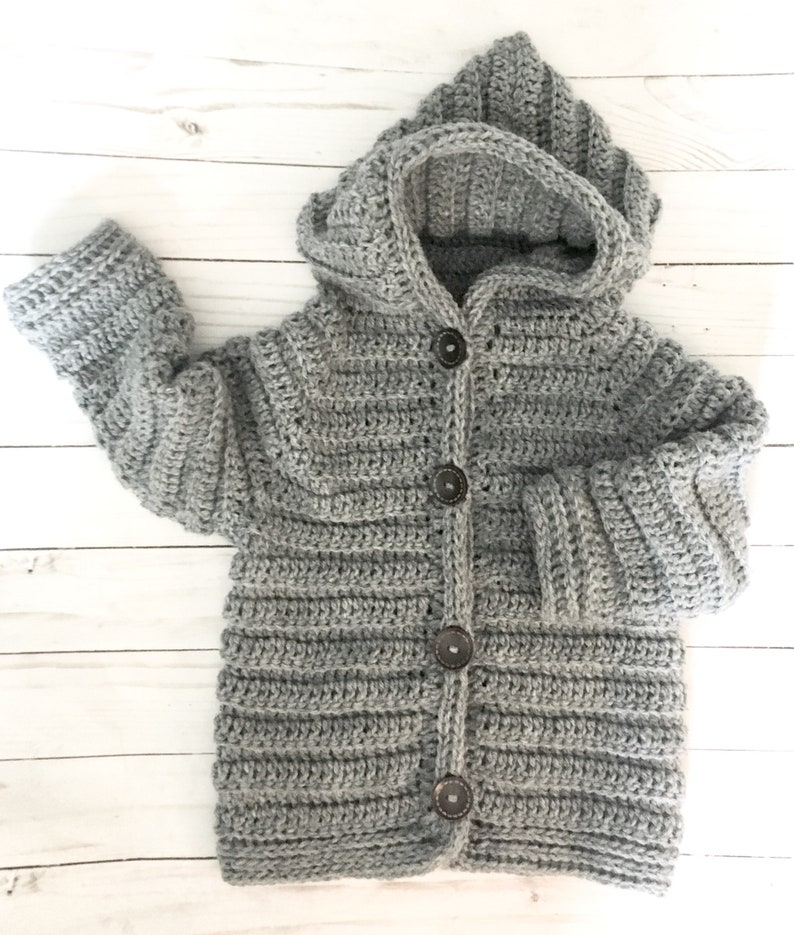 94532a718 Baby Toddler boy sweater 2T gray hooded sweater boys 3T