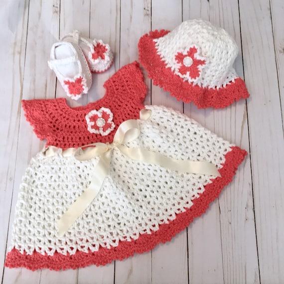 f74f548be Baby Girl Dress Vintage crochet baby dresses Newborn Infant