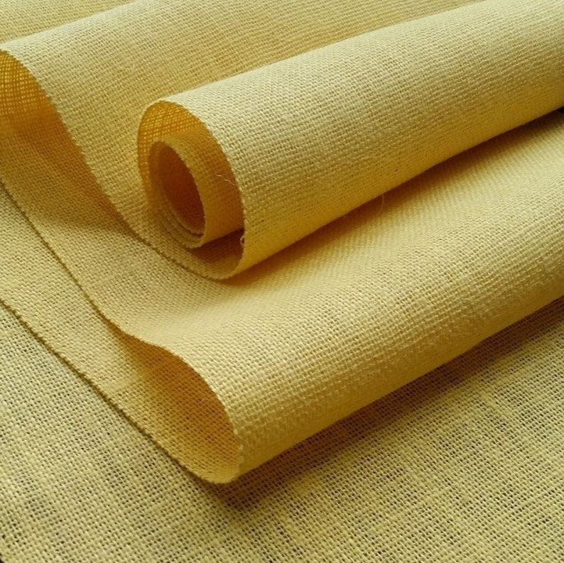 15 inch Burlap Runner  Roll Brown Beige Natural  or Daffodil Yellow Harvest Gold Ivory