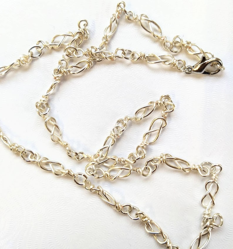 Celtic knot necklace  silver chain necklace image 0