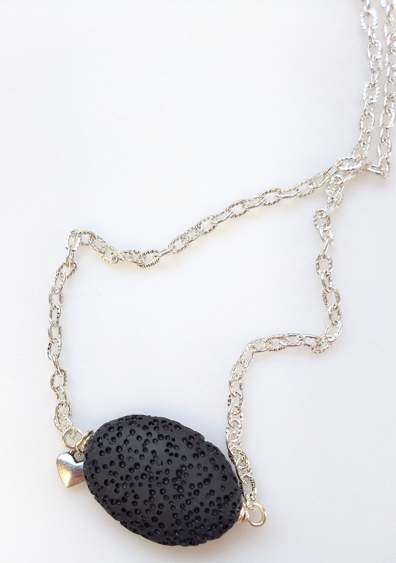 Diffuser necklace  lava bead necklace  essential oil image 0