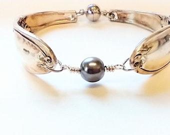 Vintage flatware bracelet - spoon bracelet - silverware jewelry