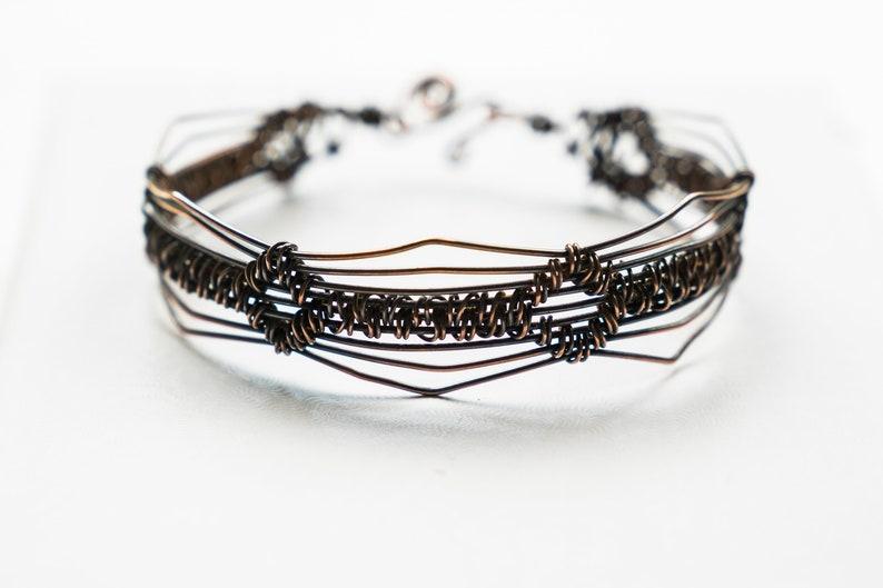 Boho cuff bracelet  copper wire bracelet image 0