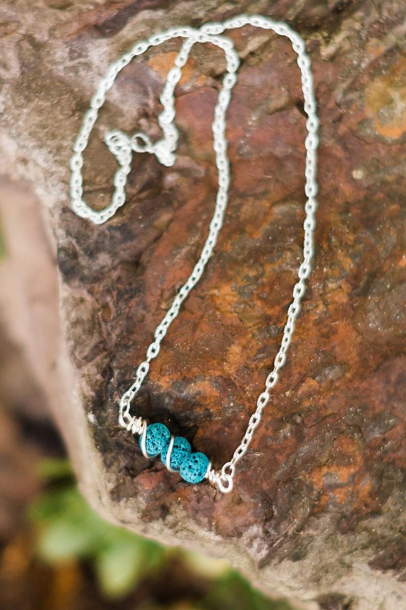 Lava stone diffuser necklace  essential oil diffuser necklace image 0