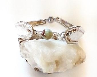 Silverware jewelry - flatware bracelet - spoon bracelet