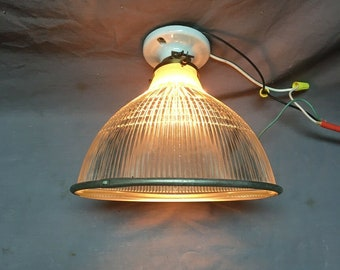 Vtg Industrial Holophane Eames Era Factory Old Ceiling Sconce Work Light 406-20E
