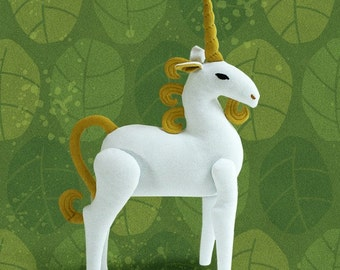 Unicorn Plush Jointed Soft Sculpture - Made To Order