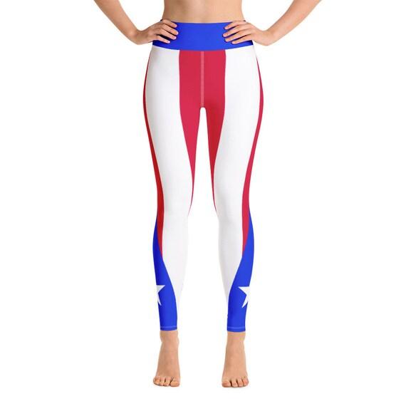eac80076c6160 Boricua Babe Caribbean Island Girl Athletic Leggings | Etsy