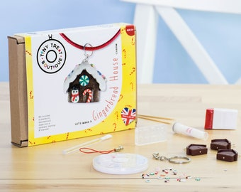 Gingerbread House Jewellery Craft Kit. Kids Jewellery Kit. Party Activities. Creative Gifts. Stocking Filler Teens Children Adults