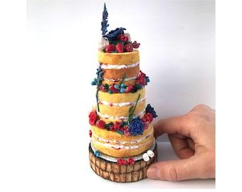 Wedding Gift Custom Wedding Cake Replica. Custom Wedding Ornament Voucher. Anniversary Present. Personalised Cake Model Sculpture