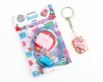 Biscuit Themed Jewellery Kit. Party Bags. Holiday Activities. Birthday Gift Child. Kids Clay Craft Kit. Children's Set. Stocking Filler
