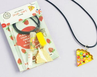 Fruit Tart Themed Jewellery Mini Craft Kit. Party Bag Favours Games Ideas. Stocking Filler Children Kid Child. Kids Party Activities.