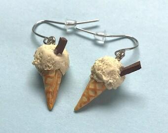Handmade Ice Cream Earrings. Birthday Present. Stocking Filler. Statement Earrings. Polymer Clay Earrings
