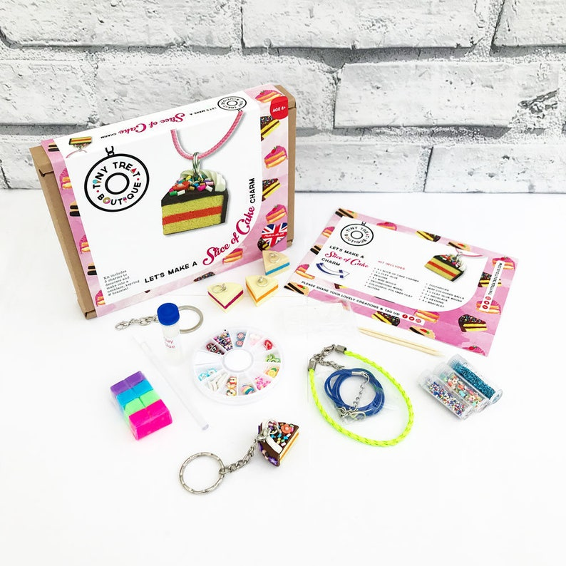 Cake Slice Themed Jewellery Kit. Makes 3 Things: Necklace image 0