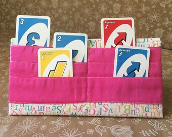 Playing card holder/stand: letters
