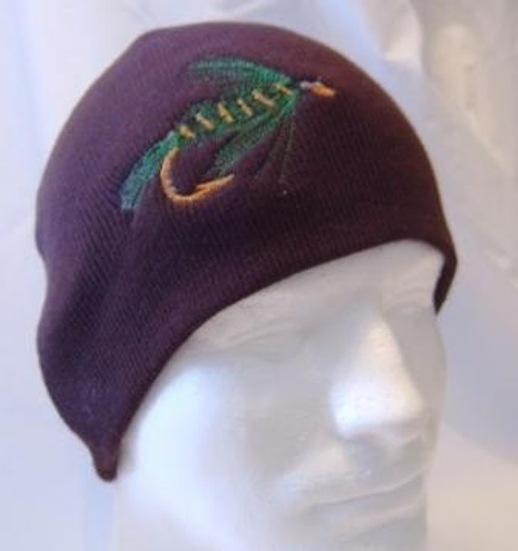 Ida May Fishing Fly Lure Beanie Skullcap Hat Fisherman Fish  4cea046f02ad