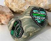 Mosaic Three Heart Green ...