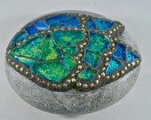 Mosaic Blue-Green Angel W...