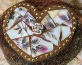 Broken China Mosaic Heart...