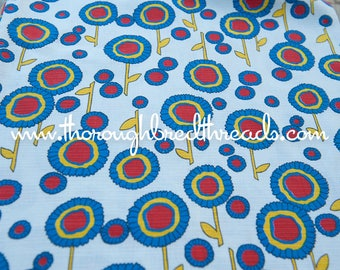 Happy Blooms- Vintage Fabric 60s 70s New Old Stock Great Graphics
