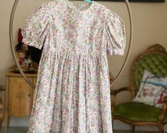 Vintage Girl's Dress -School Girl Sweet Floral