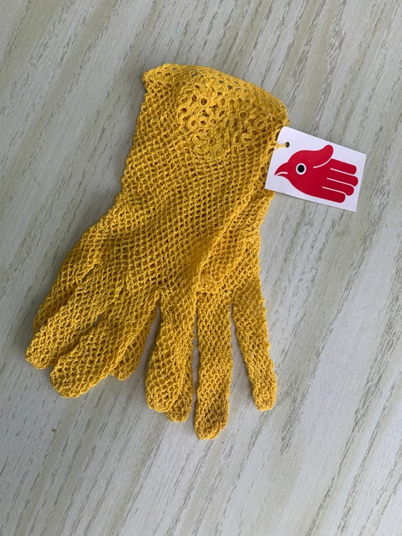Vintage Lace Gloves - 80s NWT's Madonna Gold Yello