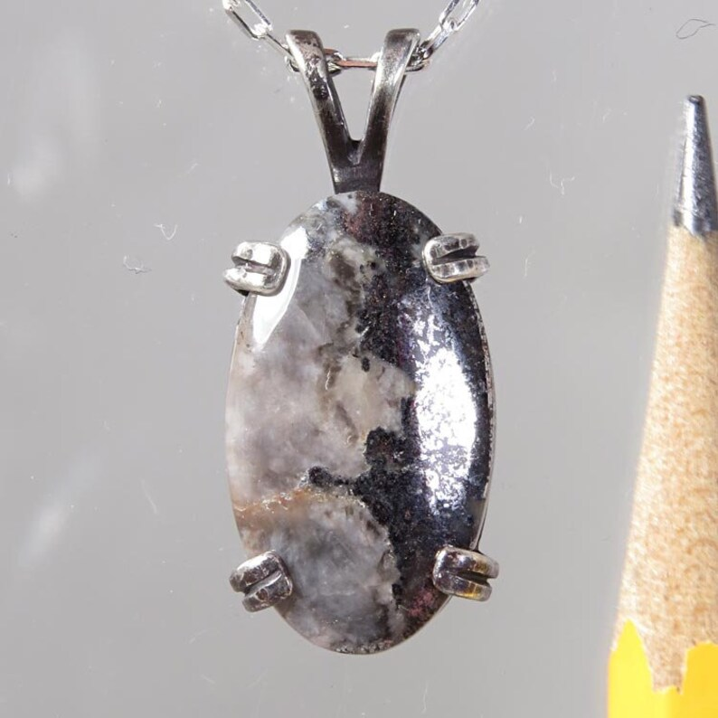 Native Silver from Ontario Canada 8.58 carats  Sterling Pendant and Chain  Free Shipping and gift box