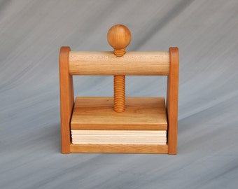 Leaf and Flower Press by Tyler Morris Woodworking