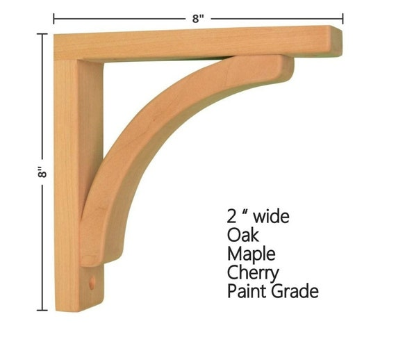 Corbels for Pre-Installed Countertops Paint Grade Concave 10