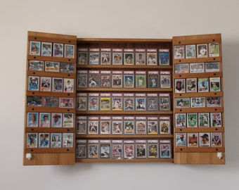 Sports card display cabinet