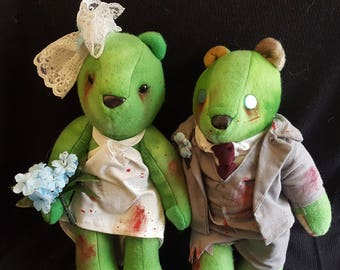 Zombie Bride and Groom Bears