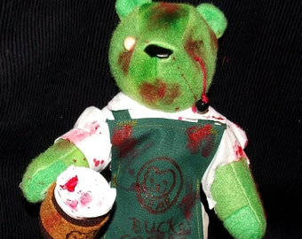 Zombie Coffee Barista Bear