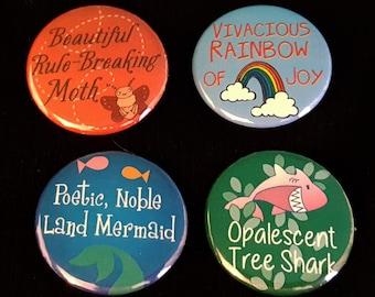 Parks & Recreation Pin - Leslie's Names for Ann SET OF 4