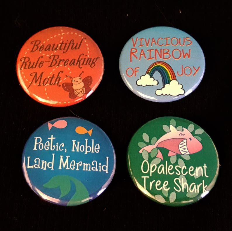 Parks & Recreation Pin  Leslie's Names for Ann SET OF 4 image 0