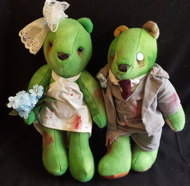 Zombie Bride and Groom Bears image 0