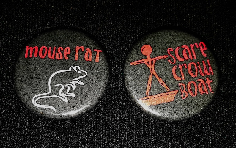 Parks & Recreation Pin Set of 2  Mouse Rat Scarecrow Boat image 0