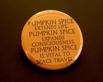 Pumpkin Spice Dune Pinback Button