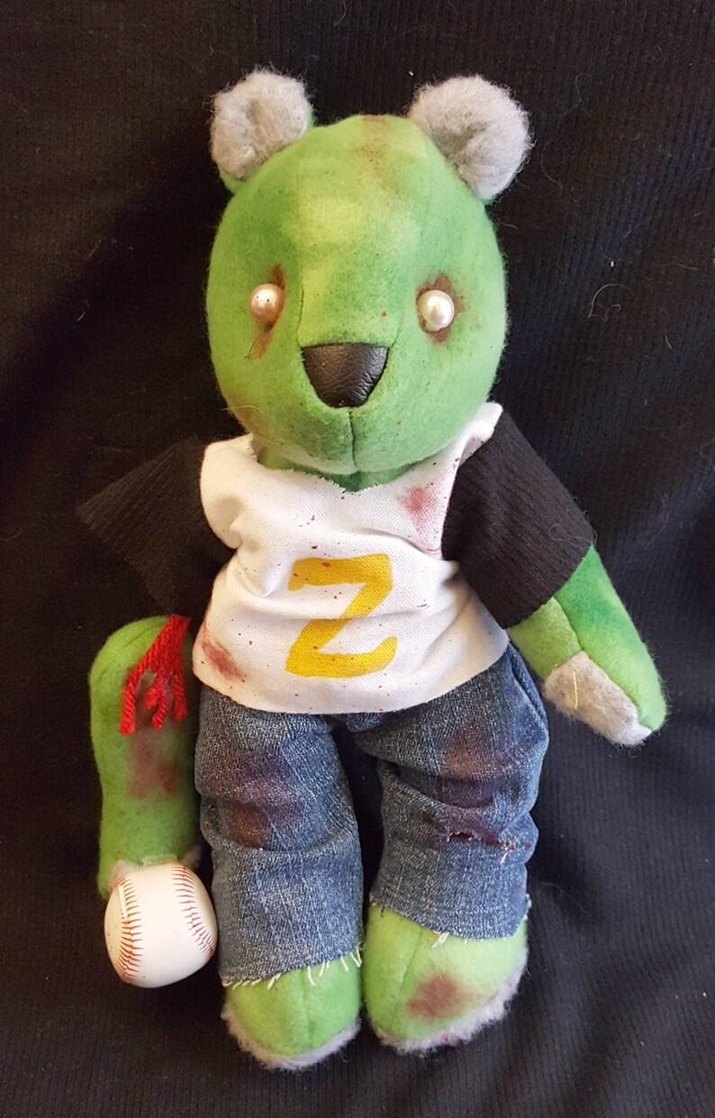 Zombie Baseball Fan Bear image 0