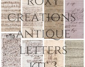 Printable antique letters kit 3