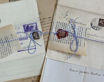 Antique Italian document early 1800s to 1900s