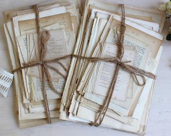 Super antique book page bundle 1800s