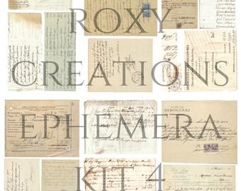 Printable antique ephemera kit 4