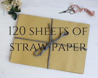 120 pcs straw paper 21x31 cm