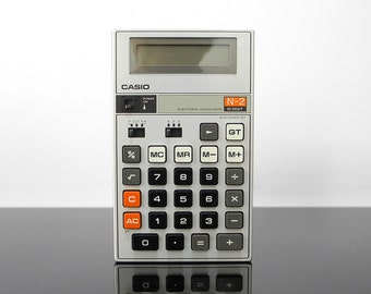 Calculator / Casio N-2, 10-Digit / Vintage