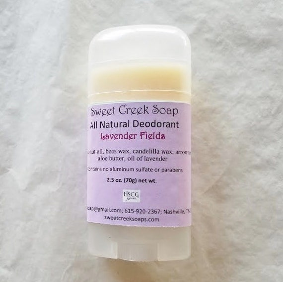 Natural Deodorant, Lavender Fields, 2.5 oz. Stick
